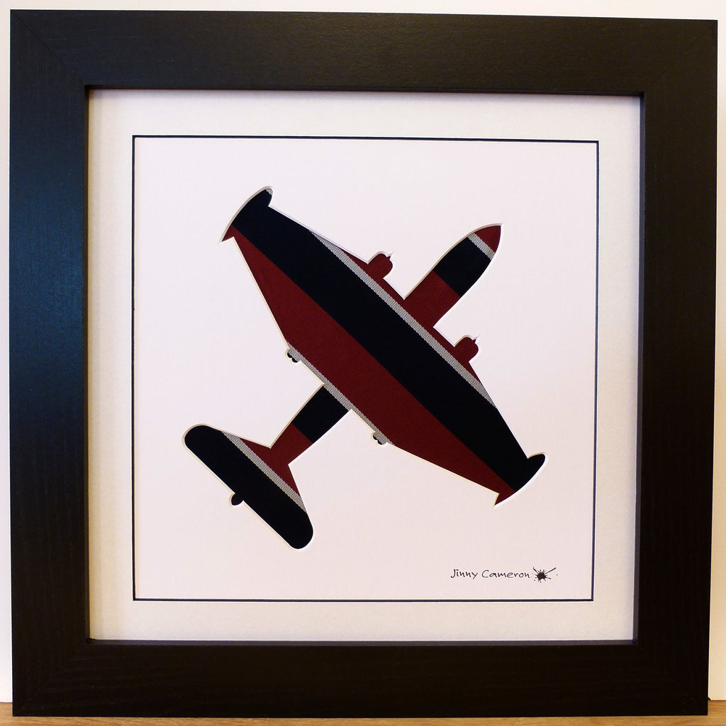 RAF Canberra B2 silhouette art work aviation picture Jinny Cameron