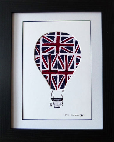 HOT AIR BALLOON DESIGN #1 IN UNION JACK FABRIC