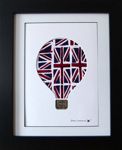 HOT AIR BALLOON DESIGN #2 IN UNION JACK FABRIC