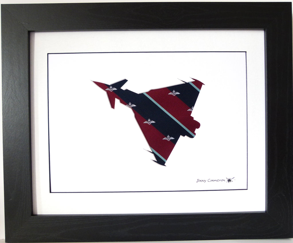 Typhoon Eurofighter Planform RAF tie silhouette picture wall art