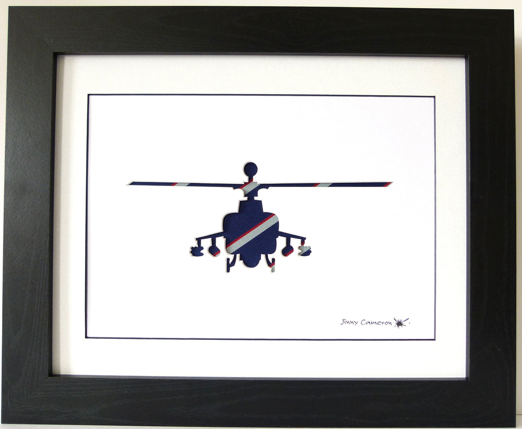 Apache Army Air Corps Tie Head On Wall Art Picture