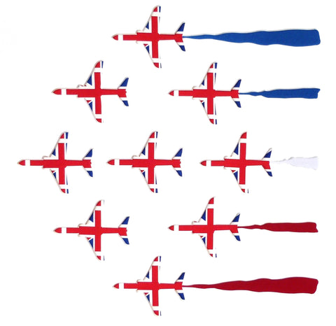 9 Red Arrows Card Square