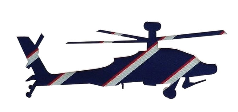 Apache in army air corps tie wall art picture helicopter