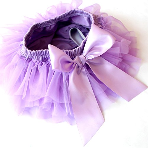 Infant and Toddlers Girls Cotton Tulle Ruffle with Bow Baby Bloomer Diaper Cover and Headband Set