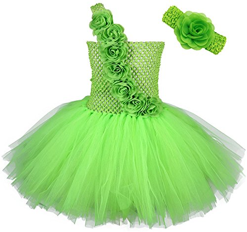 Tutu Dreams Baby Girls' Tutus and Headband Costumes Set (S, Lime green)