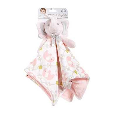 Love My Baby Gifts. Elephant Plush Blanket With Pacify Clip by Blankets And  Beyond 523308deb