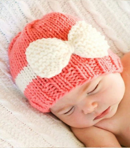 Cute Newborn baby Knitted Hospital Beanie Cap Hat