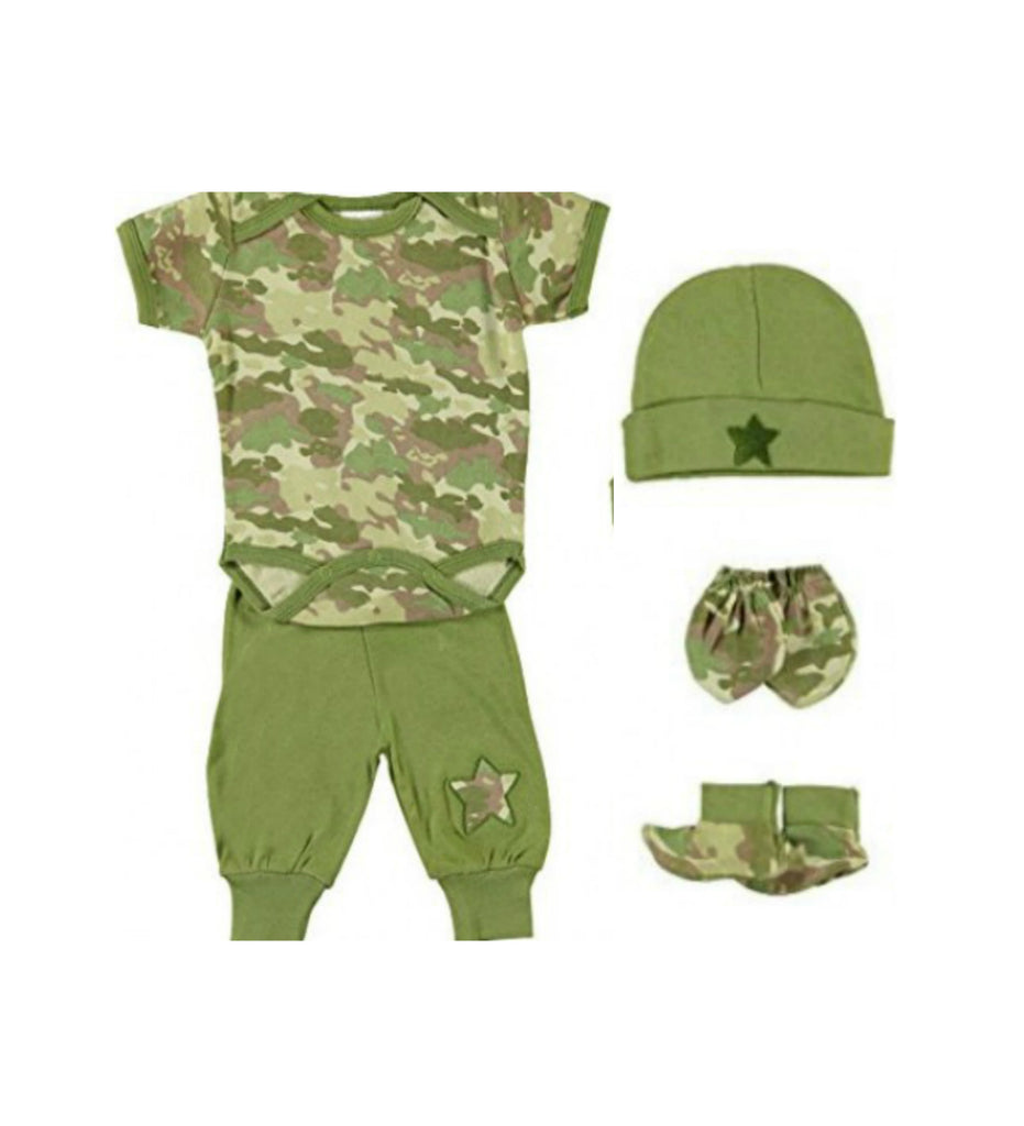 Mon Cheri Baby Camo 5 Piece Layette Set Love My Baby Gifts