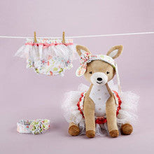 Flora The Fawn Plush Plus Deer with Bloomers and Headband for Baby to Wear