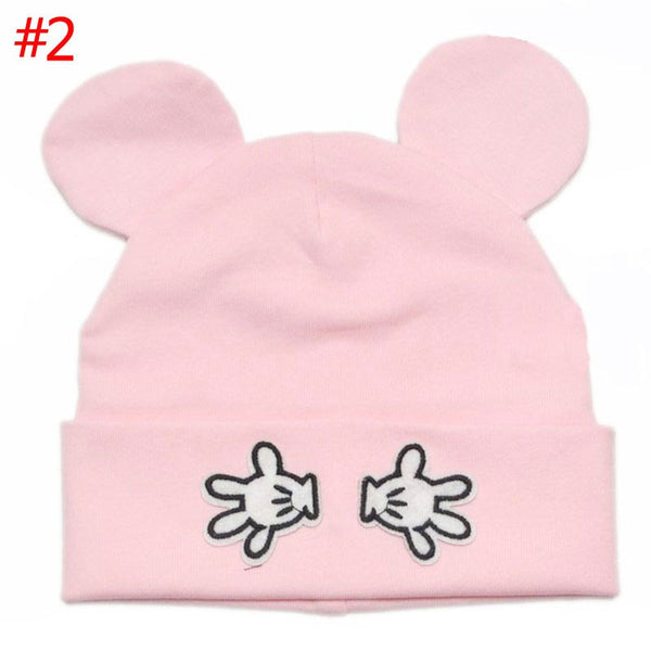 Baby Infant Hat Mouse Ears Knitted Beanie Boys Girls