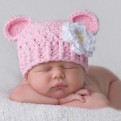 Lovely Newborn Infant Baby Knit Crochet Hat Photography Prop Costume Cap Beanie