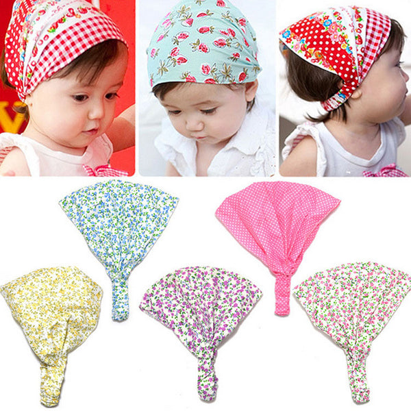 Baby Girl Kid Newborn Flower Headband Hair Wear Accessories Headscarf Bandana Hat 5 Colors