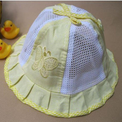 Baby Girl Butterfly Hat Summer Cotton Newborn