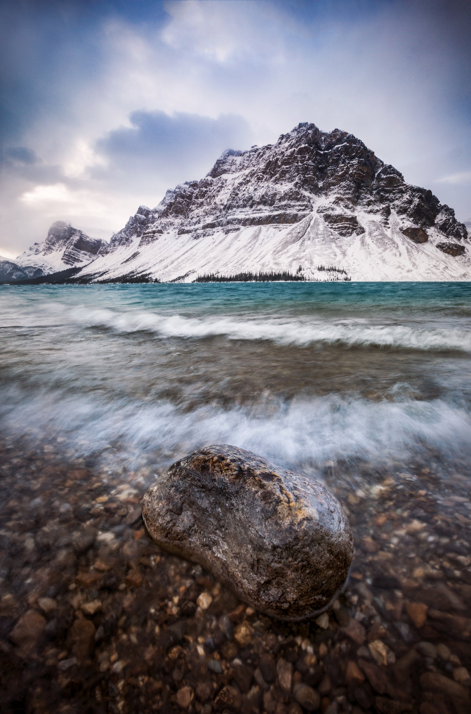 First Snow at Bow Lake