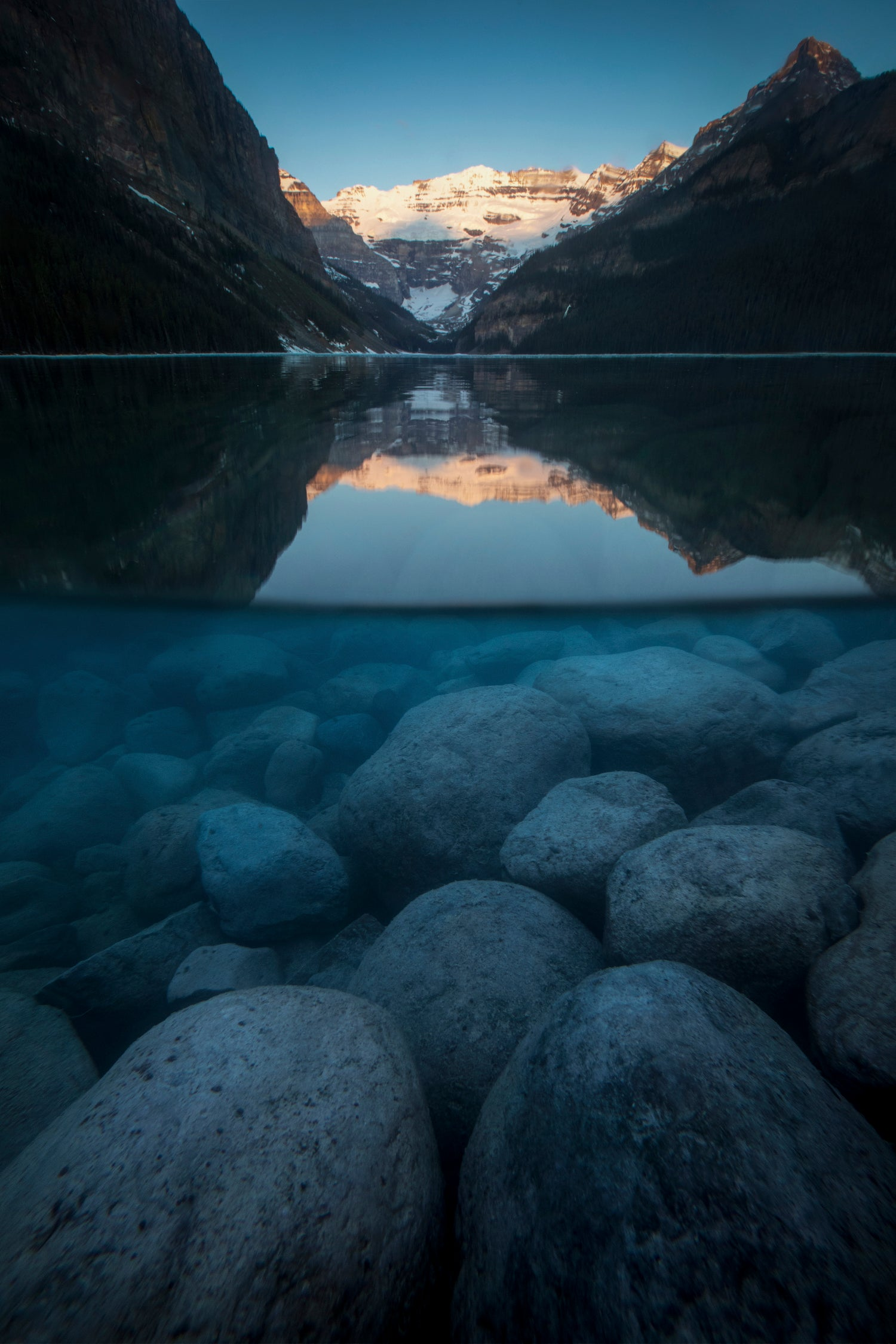 Surfacing at Lake Louise