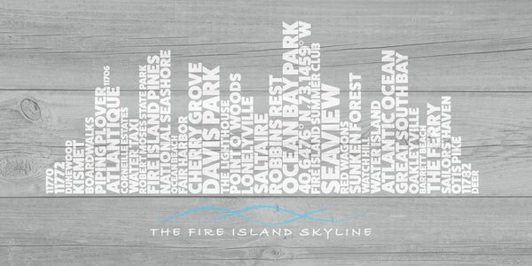 FIRE ISLAND SKYLINE - Giclée on Canvas