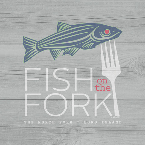 FISH ON THE FORK - Giclée on Canvas