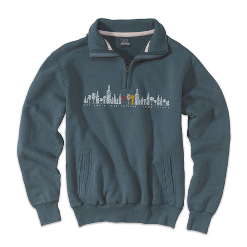 North Fork Skyline - Orient Marine Blue 1/4 Zip