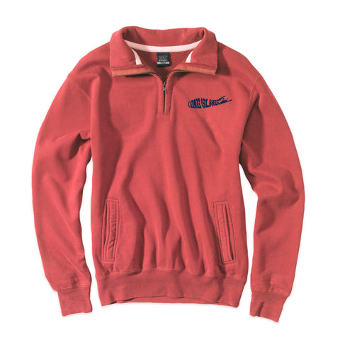 Long Island Logo - Mattituck Red 1/4 Zip