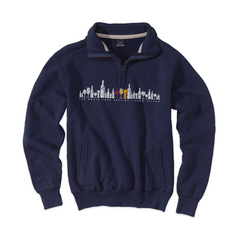 North Fork Skyline - Peconic Navy 1/4 Zip