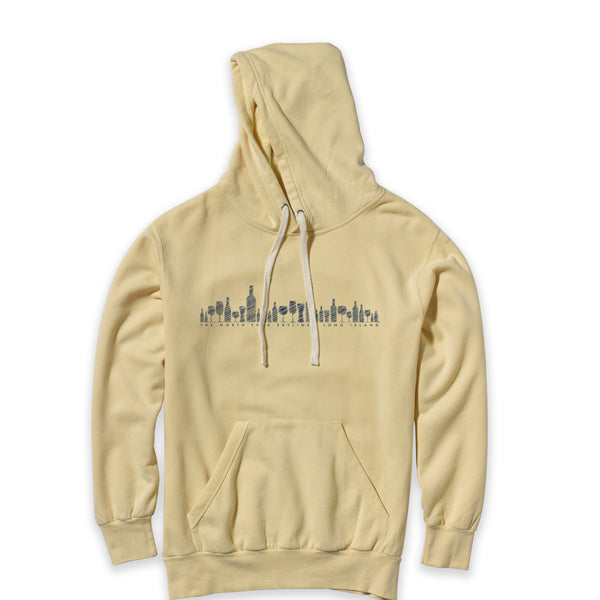 North Fork Skyline - New Suffolk Yellow Vintage Hoodie