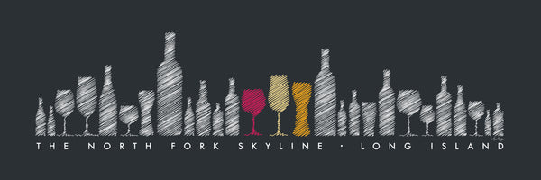 "THE ""ORIGINAL"" NORTH FORK SKYLINE (Bottles) - Giclée on Canvas"