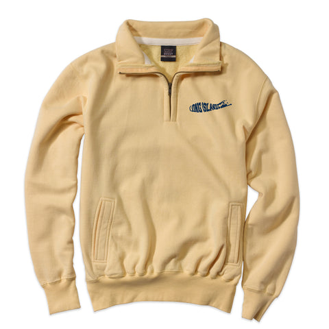 Long Island Logo - New Suffolk Yellow 1/4 Zip
