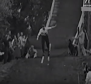 1935 Legends Perform Pine Needle Ski Jump