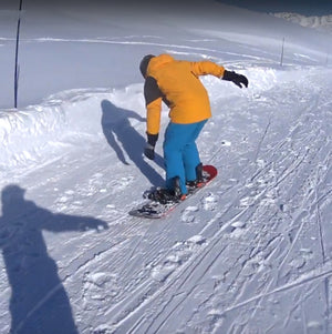 Unstrapped Snowboard Falls Off Cliff