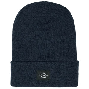 jerry of the day staple cuffed beanie respect the send blue