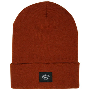 jerry of the day staple cuffed beanie respect the send orange