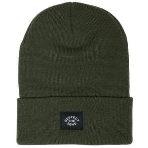 jerry of the day staple cuffed beanie respect the send green