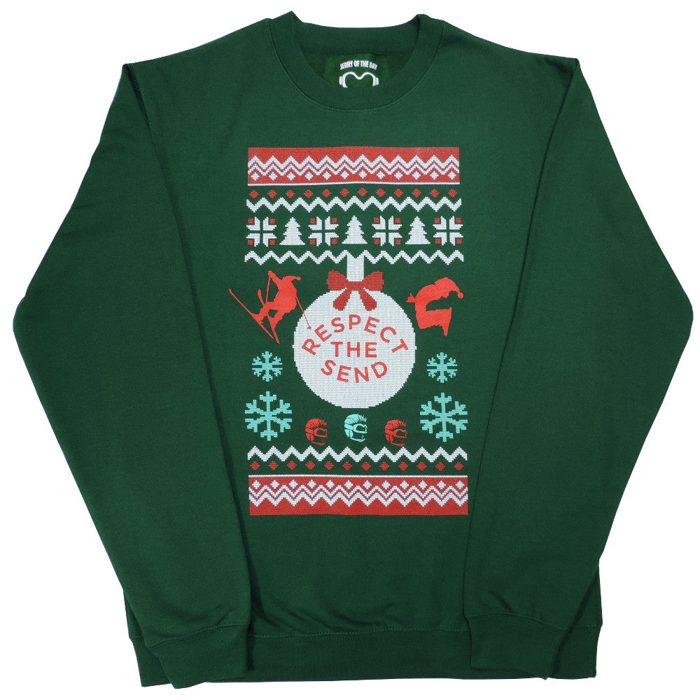 Green Day Christmas Sweater.Respect The Send Ugly Holiday Sweatshirt