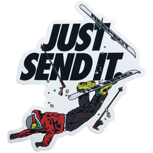 Jerry of the Day Just Send It Sticker.