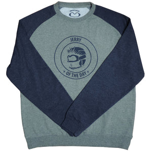 Jerry of the Day Crew Neck Sweatshirt Heather/Navy Blue