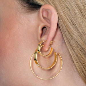 Wide Hoop Earring Combo Set  - Adina's Jewels