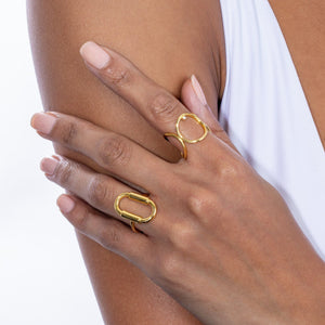 Solid Open Oval Ring  - Adina's Jewels