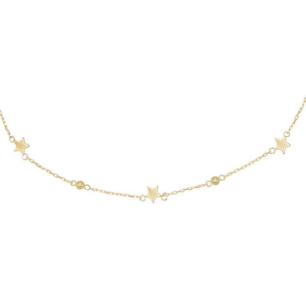 Gold Dainty Star Choker - Adina's Jewels