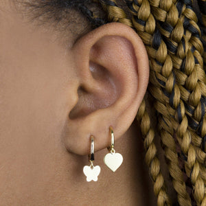 Solid Heart Huggie Earring  - Adina's Jewels