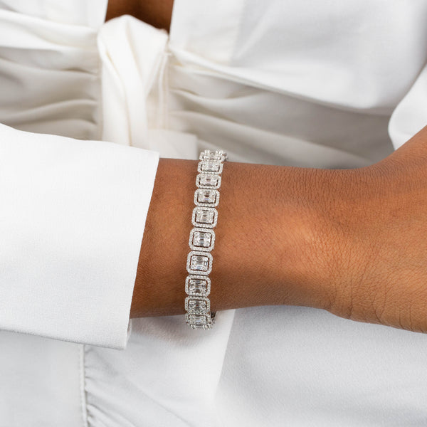 Diamond Illusion Tennis Bracelet 18K - Adina's Jewels