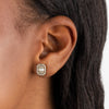 CZ Illusion Baguette Stud Earring 14K - Adina's Jewels