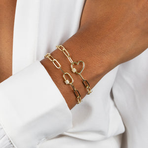 Pavé Mini Toggle Link Bracelet - Adina's Jewels