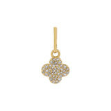 14K Gold Diamond Clover Charm 14K - Adina's Jewels