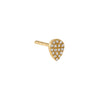 Diamond Pavé Teardrop Stud Earring 14K - Adina's Jewels