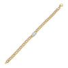 14K Gold Diamond Illusion X Miami Cuban Link Bracelet 14K - Adina's Jewels