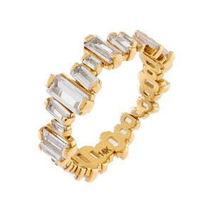Scattered Baguette Ring 14K
