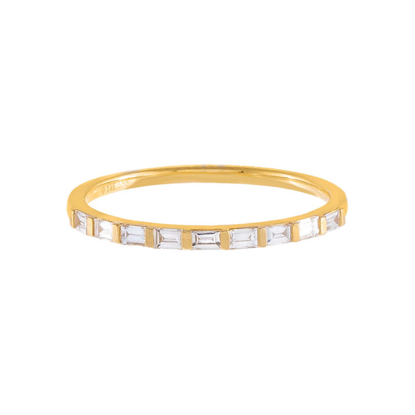 Diamond Dainty Multi-Baguette Band 14K - Adina's Jewels