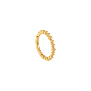Beaded Huggie Earring 14K