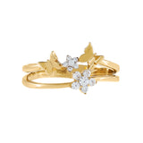 CZ Flower X Butterfly Ring 14K - Adina's Jewels