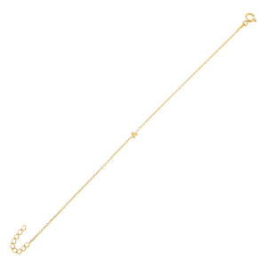 Gold / A Mini Uppercase Initial Bracelet - Adina's Jewels